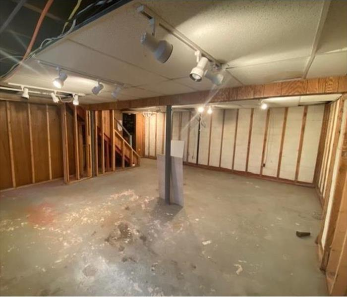 cleaned and demoed basement