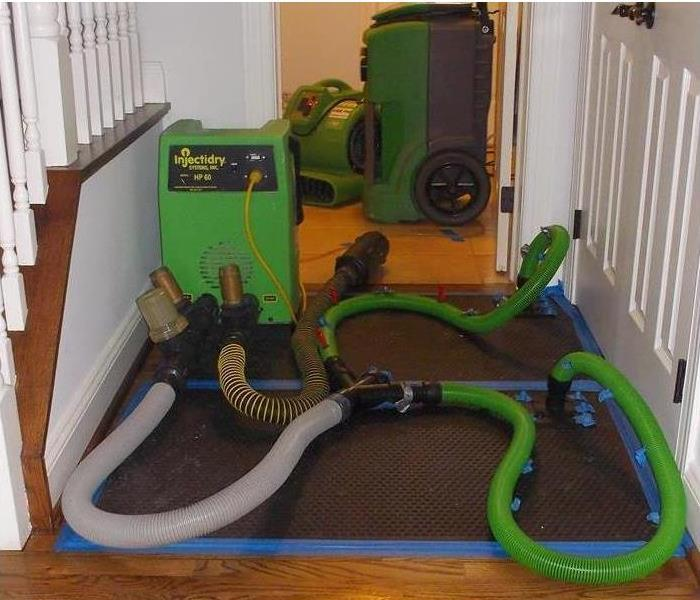 Water Damage Specialized equipment for drying hardwood floors