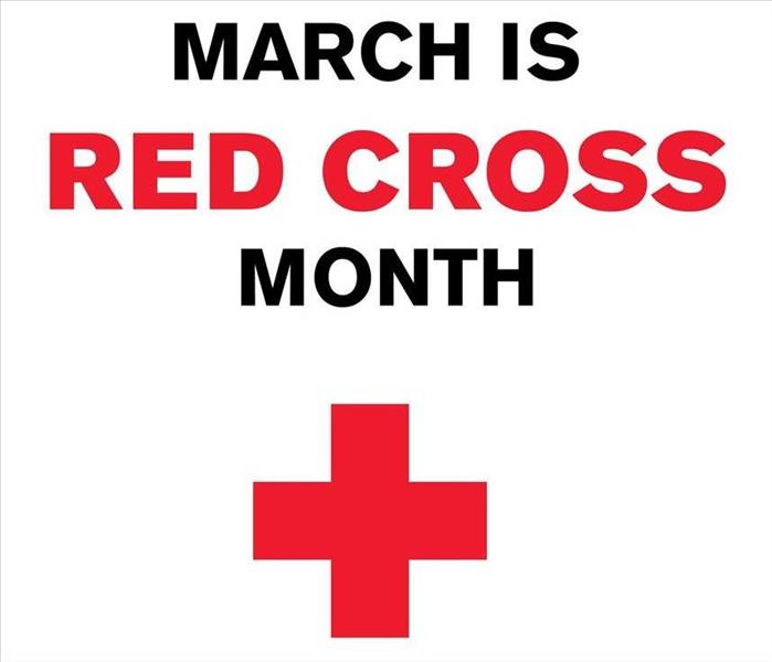 Red Cross Month Sign